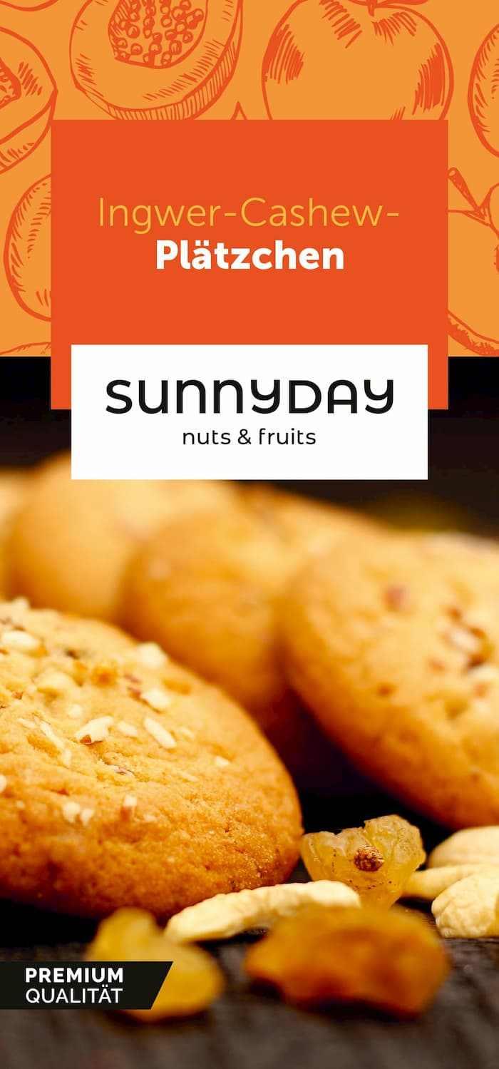 Sunnyday Rezeptkarte Ingwer Cashew Plätzchen